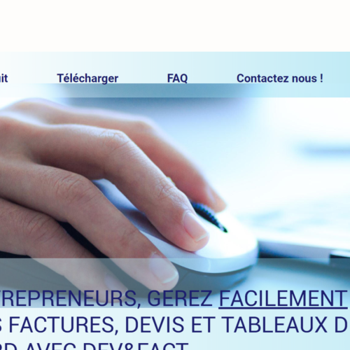 Créateur de site : le site de Dev and Fact